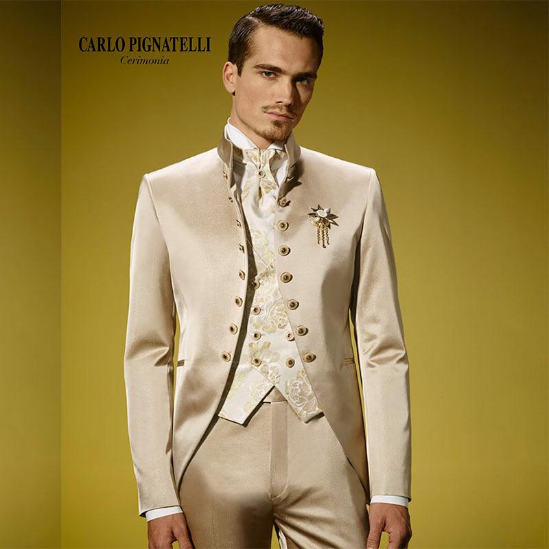 Italian Men Slim Fit Suits Wedding