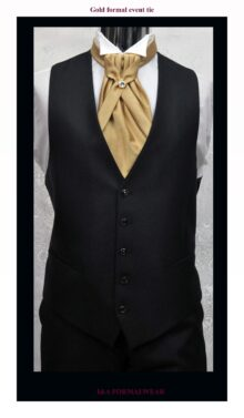 Gold Tuxedo Ties Accessories