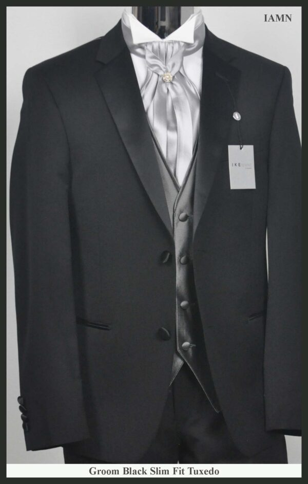 Groom Silver Tie