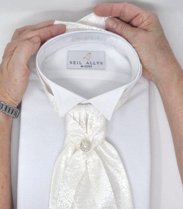Groom's White Neckties